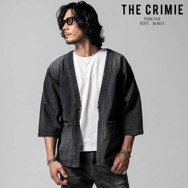 """CRIMIE(クライミー) BORN AGAINST STRETCH BLACK GARAGE USED HAPPI JACKET 【""""THE"""" SERIES COLLECTION 先行予約】【定番商品】【"""