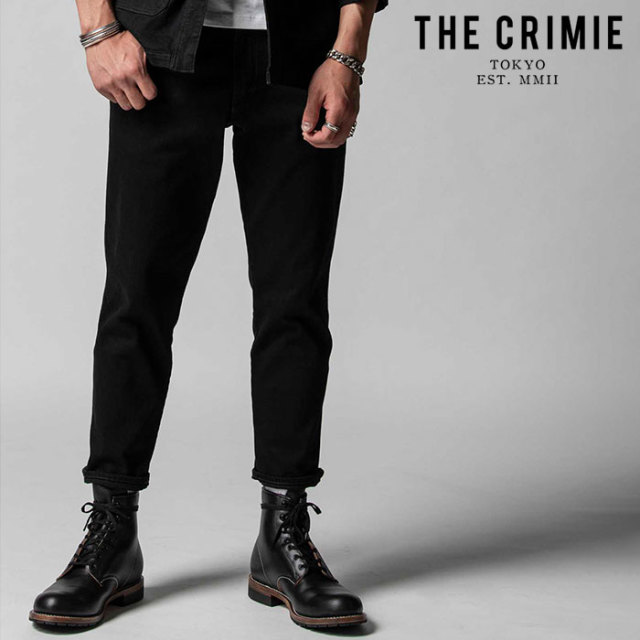 "CRIMIE(クライミー) BORN AGAINST STRETCH BLACK CROPPED JEANS 【""THE"" SERIES COLLECTION 先行予約】【定番商品】【キャンセル不"