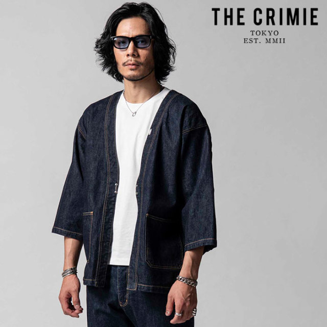 """CRIMIE(クライミー) BORN AGAINST STRETCH SELVEDGE HAPPI JACKET 【""""THE"""" SERIES COLLECTION 先行予約】【定番商品】【キャンセル"""