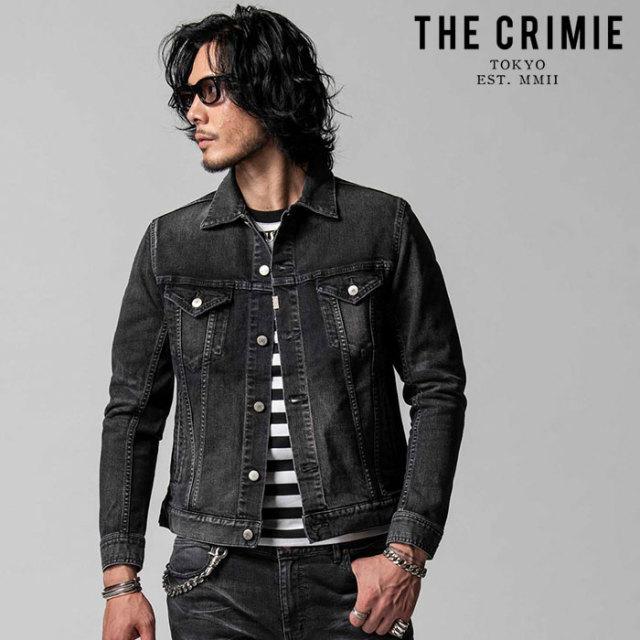 "CRIMIE(クライミー) BORN FREE STRETCH BLACK GARAGE USED JACKET 【""THE"" SERIES COLLECTION 先行予約】【定番商品】【キャンセル"