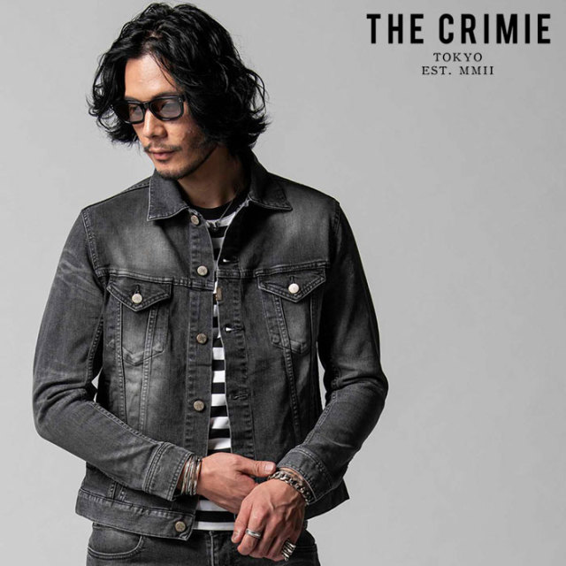 """CRIMIE(クライミー) BORN FREE STRETCH BLACK CALIFORNIA USED JACKET 【""""THE"""" SERIES COLLECTION 先行予約】【定番商品】【キャン"""