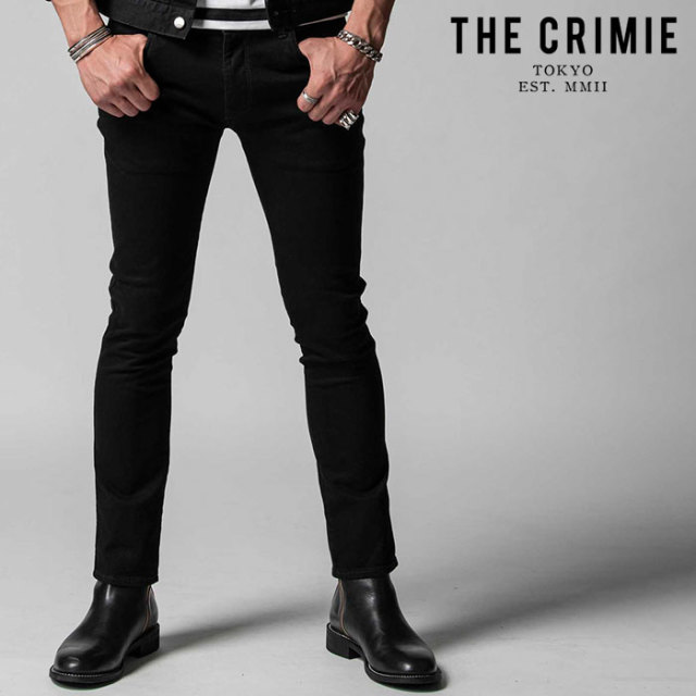 "CRIMIE(クライミー) BORN FREE STRETCH BLACK SLIM JEANS 【""THE"" SERIES COLLECTION 先行予約】【定番商品】【キャンセル不可】【"