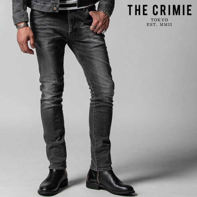 "CRIMIE(クライミー) BORN FREE STRETCH BLACK CALIFORNIA USED SLIM JEANS 【""THE"" SERIES COLLECTION 先行予約】【定番商品】【キ"