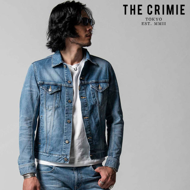 """CRIMIE(クライミー) BORN FREE STRETCH SELVEDGE CALIFORNIA USED JACKET 【""""THE"""" SERIES COLLECTION 先行予約】【定番商品】【キ"""