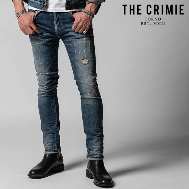 "CRIMIE(クライミー) BORN FREE STRETCH SELVEDGE GARAGE USED SLIM JEANS 【""THE"" SERIES COLLECTION 先行予約】【定番商品】【キ"