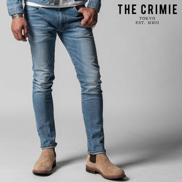 "CRIMIE(クライミー) BORN FREE STRETCH SELVEDGE CALIFORNIA USED SLIM JEANS 【""THE"" SERIES COLLECTION 先行予約】【定番商品】"