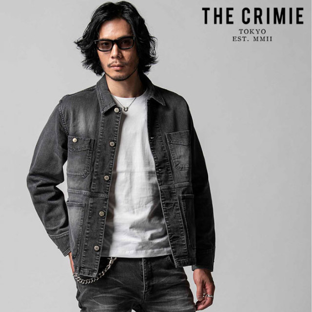 """CRIMIE(クライミー) BORN FREE II STRETCH BLACK CALIFORNIA USED JACKET 【""""THE"""" SERIES COLLECTION 先行予約】【定番商品】【キ"""