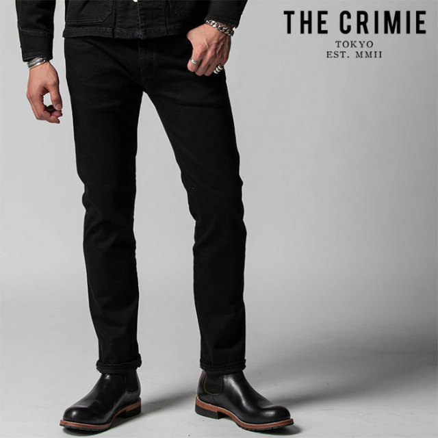 "CRIMIE(クライミー) BORN FREE II STRETCH BLACK SLIM STRAIGHT JEANS 【""THE"" SERIES COLLECTION 先行予約】【定番商品】【キャン"