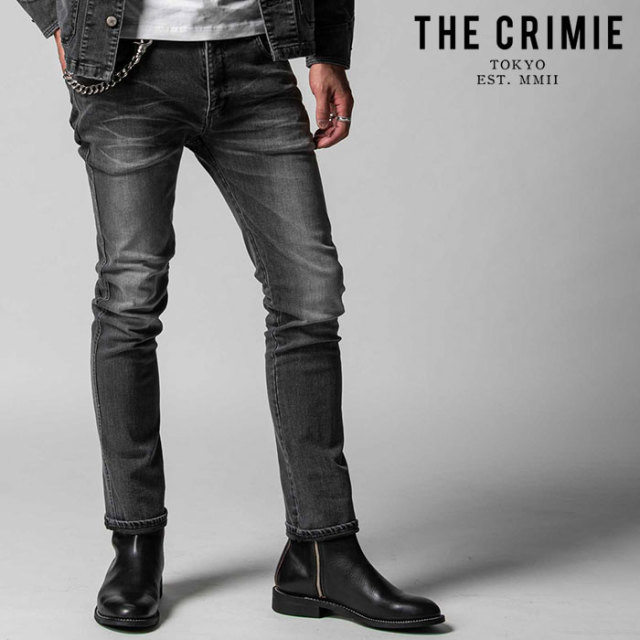 "CRIMIE(クライミー) BORN FREE II STRETCH BLACK CALIFORNIA USED SLIM STRAIGHT JEANS 【""THE"" SERIES COLLECTION 先行予約】【定"