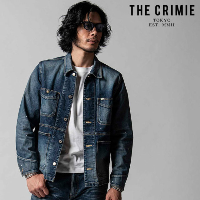 """CRIMIE(クライミー) BORN FREE II STRETCH SELVEDGE GARAGE USED JACKET 【""""THE"""" SERIES COLLECTION 先行予約】【定番商品】【キャ"""