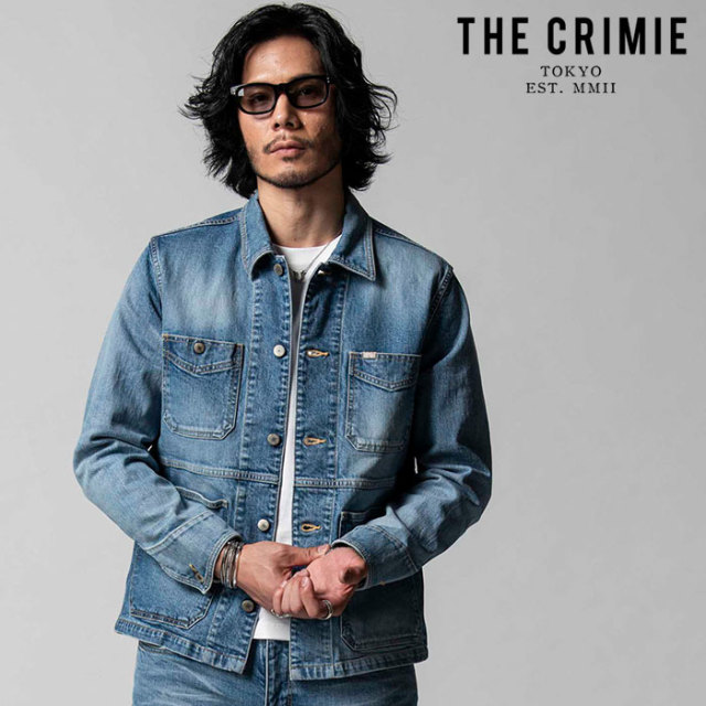 """CRIMIE(クライミー) BORN FREE II STRETCH SELVEDGE CALIFORNIA USED JACKET 【""""THE"""" SERIES COLLECTION 先行予約】【定番商品】【"""