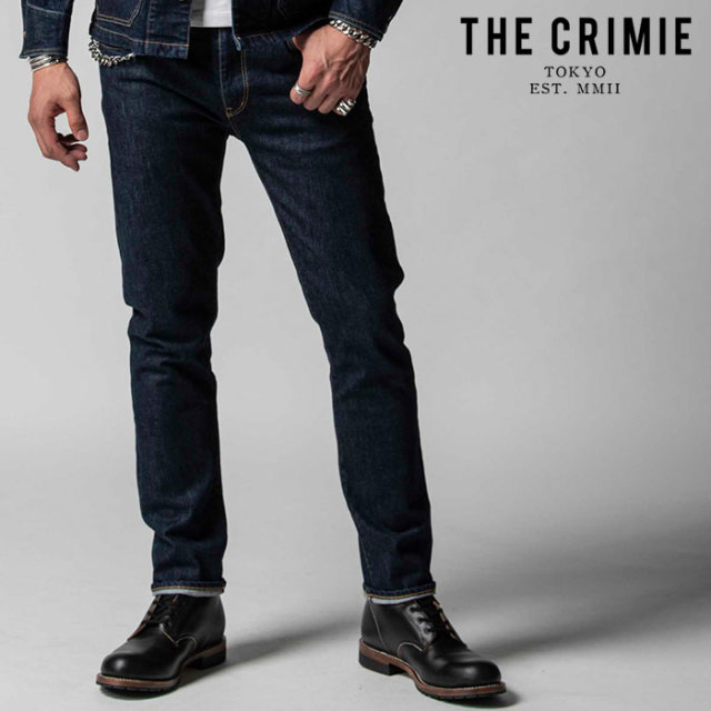 "CRIMIE(クライミー) BORN FREE II STRETCH SELVEDGE SLIM STRAIGHT JEANS 【""THE"" SERIES COLLECTION 先行予約】【定番商品】【キ"