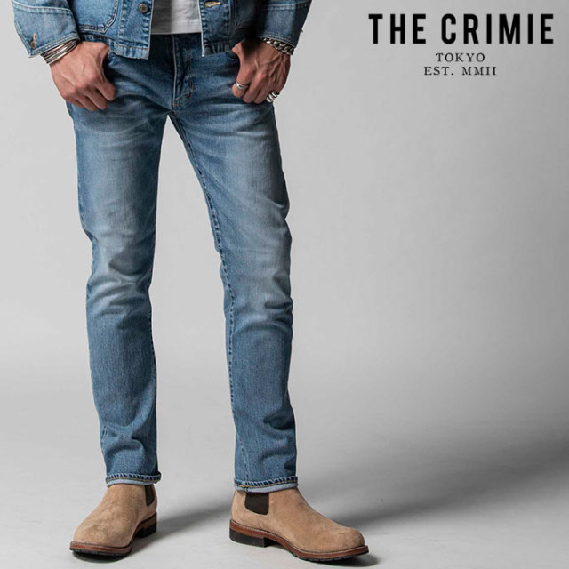 "CRIMIE(クライミー) BORN FREE II STRETCH SELVEDGE CALIFORNIA USED SLIM STRAIGHT JEANS 【""THE"" SERIES COLLECTION 先行予約】"