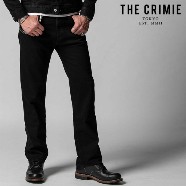 "CRIMIE(クライミー) BORN KILLER STRETCH BLACK CLASSIC LOOSE JEANS 【""THE"" SERIES COLLECTION 先行予約】【定番商品】【キャン"