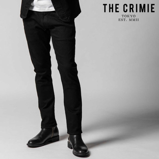 "CRIMIE(クライミー) BORN RUDE STRETCH BLACK TAPERED JEANS 【""THE"" SERIES COLLECTION 先行予約】【定番商品】【キャンセル不可"