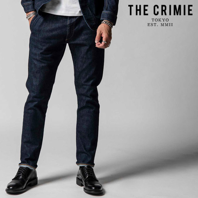 "CRIMIE(クライミー) BORN RUDE STRETCH SELVEDGE TAPERED JEANS 【""THE"" SERIES COLLECTION 先行予約】【定番商品】【キャンセル不"