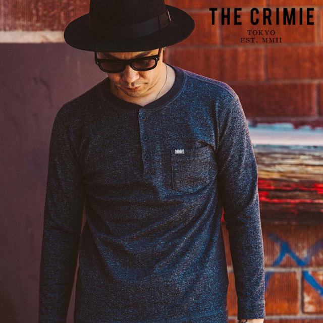"CRIMIE(クライミー) TSURIAMI HENRY NECK LONG SLEEVE T SHIRT 【""THE"" SERIES COLLECTION 先行予約】【定番商品】【キャンセル不"