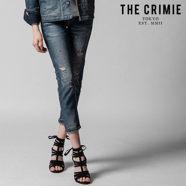 "CRIMIE(クライミー) BORN SINNER STRETCH BLACK GARAGE USED SLIM ANKLE JEANS 【""THE"" SERIES COLLECTION 先行予約】【定番商品】"