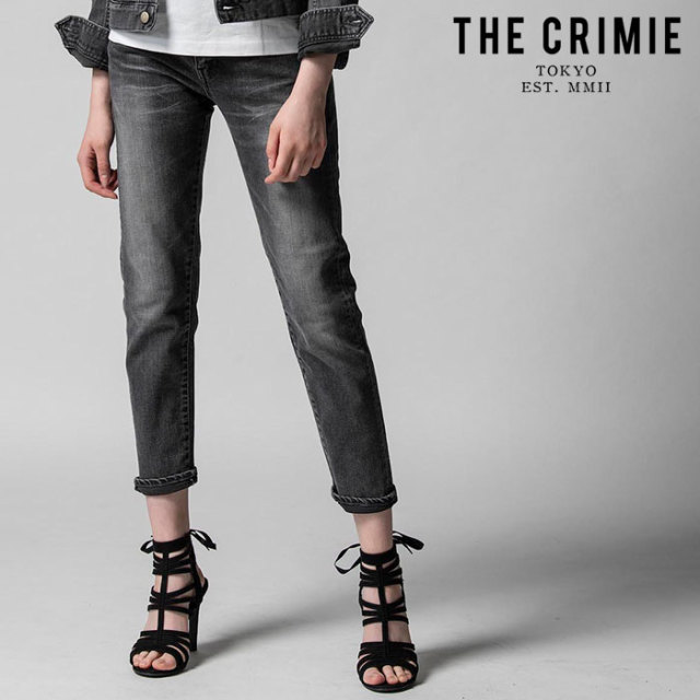 "CRIMIE(クライミー) BORN SINNER STRETCH BLACK CALIFORNIA USED SLIM ANKLE JEANS  【""THE"" SERIES COLLECTION 先行予約】【定番"