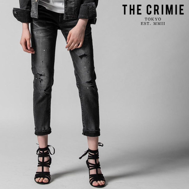 "CRIMIE(クライミー) BORN SINNER STRETCH SELVEDGE GARAGE USED SLIM ANKLE JEANS 【""THE"" SERIES COLLECTION 先行予約】【定番商"