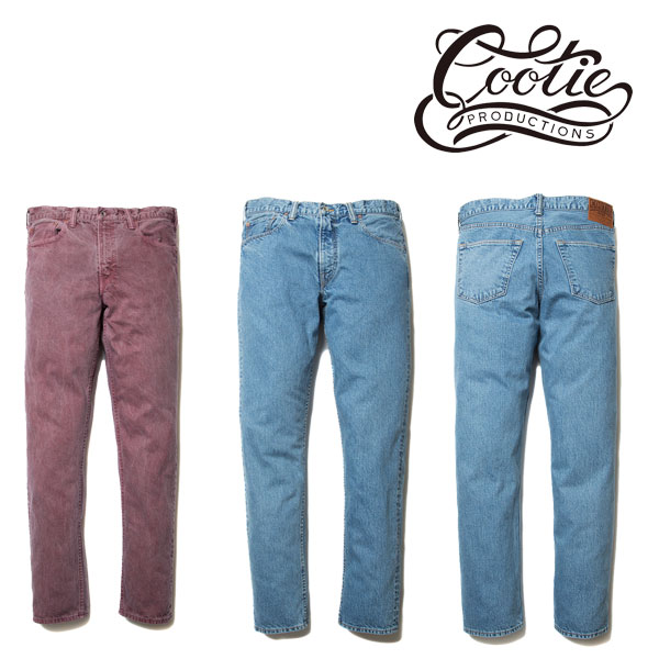 COOTIE(クーティー) 5 Pocket Color Denim(BURGUNDY)