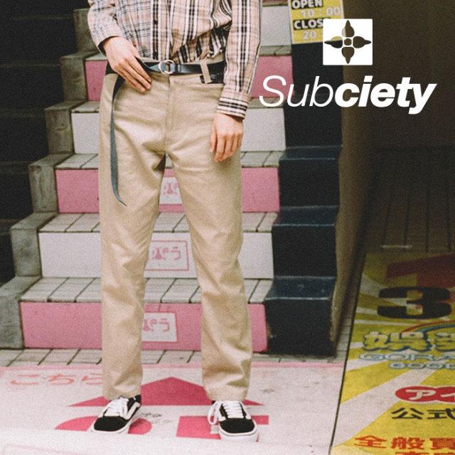 SUBCIETY(サブサエティ) WORK PANTS-PAISLEY- 【2018AUTUMN/WINTER先行予約】 【送料無料】【キャンセル不可】 【103-01158】