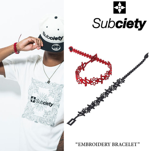 SUBCIETY(サブサエティ) EMBROIDERY BRACELET 【2018SPRING先行予約】 【キャンセル不可】 【SUBCIETY ブレスレット】【103-9208