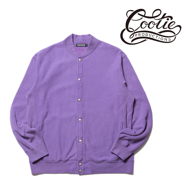 COOTIE(クーティー)Reverse Weave Snap Sweatshirt(PURPLE)