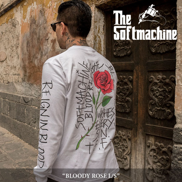 SOFTMACHINE(ソフトマシーン) BLOODY ROSE L/S(L/S T-SHIRTS) 【2018SUMMER VACATION新作】