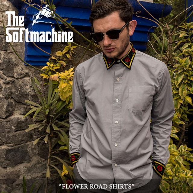 SOFTMACHINE(ソフトマシーン) FLOWER ROAD SHIRTS(L/S SHIRTS) 【2018SUMMER VACATION先行予約】 【送料無料】【キャンセル不可】