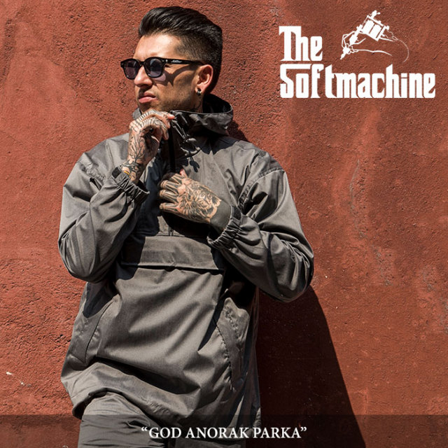 SOFTMACHINE(ソフトマシーン) GOD ANORAK PARKA(PULL OVER PARKA) 【2018SUMMER VACATION先行予約】 【送料無料】【キャンセル不