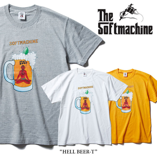 SOFTMACHINE(ソフトマシーン) HELL BEER-T(T-SHIRTS) 【2018SUMMER VACATION新作】【即発送可能】