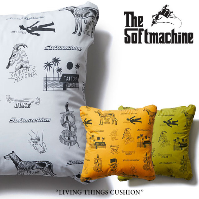 SOFTMACHINE(ソフトマシーン) LIVING THINGS CUSHION(CUSHION) 【2018SUMMER VACATION先行予約】 【キャンセル不可】