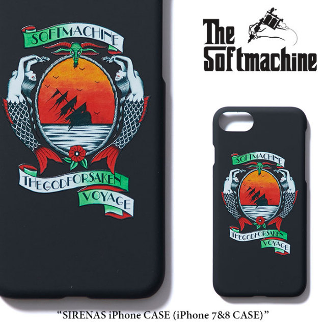SOFTMACHINE(ソフトマシーン) SIRENAS iPhone CASE(iPhone 7&8 CASE) 【2018SUMMER VACATION新作】