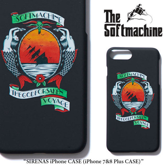 SOFTMACHINE(ソフトマシーン) SIRENAS iPhone CASE(iPhone 7&8 plus CASE) 【2018SUMMER VACATION先行予約】 【キャンセル不可】