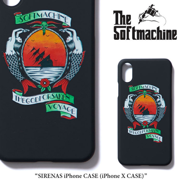 SOFTMACHINE(ソフトマシーン) SIRENAS iPhone CASE(iPhone X CASE) 【2018SUMMER VACATION新作】