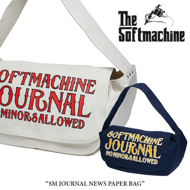 SOFTMACHINE(ソフトマシーン) SM JOURNAL NEWS PAPER BAG(NEWS PAPER BAG) 【2018SUMMER VACATION先行予約】 【送料無料】【キャ