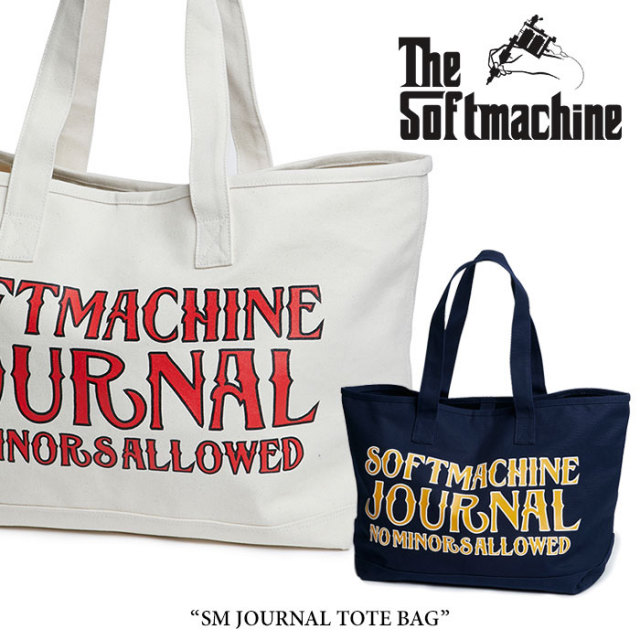 SOFTMACHINE(ソフトマシーン) SM JOURNAL TOTE BAG(TOTE BAG) 【2018SUMMER VACATION先行予約】 【送料無料】【キャンセル不可】
