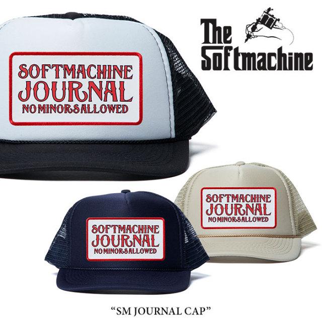 SOFTMACHINE(ソフトマシーン) SM JOURNAL CAP(MESH CAP) 【2018SUMMER VACATION先行予約】 【キャンセル不可】