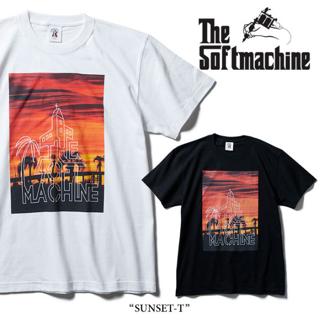 SOFTMACHINE(ソフトマシーン) SUNSET-T(T-SHIRTS) 【2018SUMMER VACATION新作】 【即発送可能】