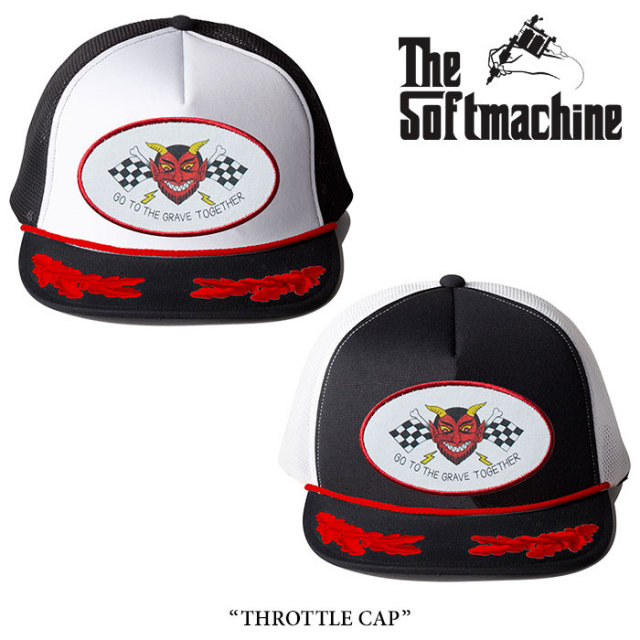 SOFTMACHINE(ソフトマシーン) THROTTLE CAP(MESH CAP) 【2018SUMMER VACATION先行予約】 【キャンセル不可】