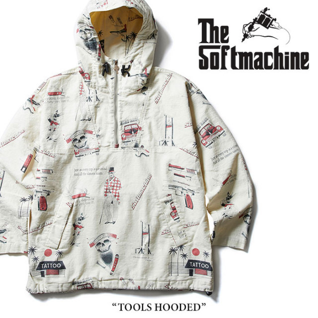 SOFTMACHINE(ソフトマシーン) TOOLS HOODED(PULL OVER PARKA) 【2018SUMMER VACATION先行予約】 【送料無料】【キャンセル不可】