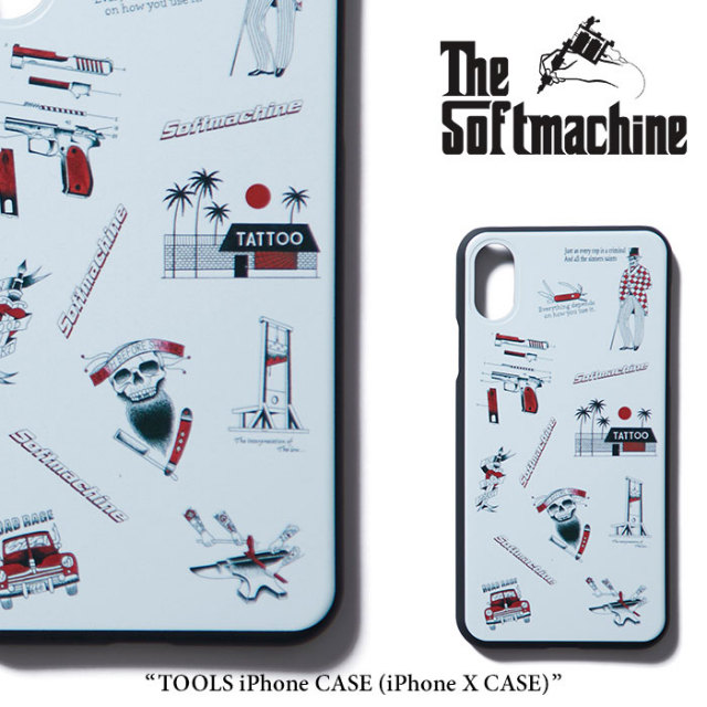 SOFTMACHINE(ソフトマシーン) TOOLS iPhone CASE(iPhone X CASE) 【2018SUMMER VACATION新作】