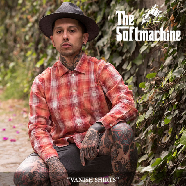 SOFTMACHINE(ソフトマシーン) VANISH SHIRTS(L/S SHIRTS) 【2018SUMMER VACATION先行予約】 【送料無料】【キャンセル不可】 【S