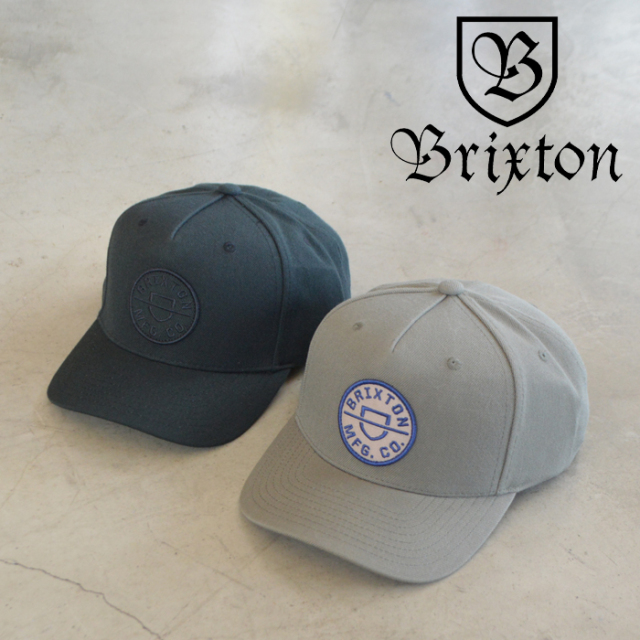 BRIXTON(ブリクストン) CREST C MP SNAPBACK 【キャップ 帽子】【ブリクストン キャップ 定番 人気 シンプル】