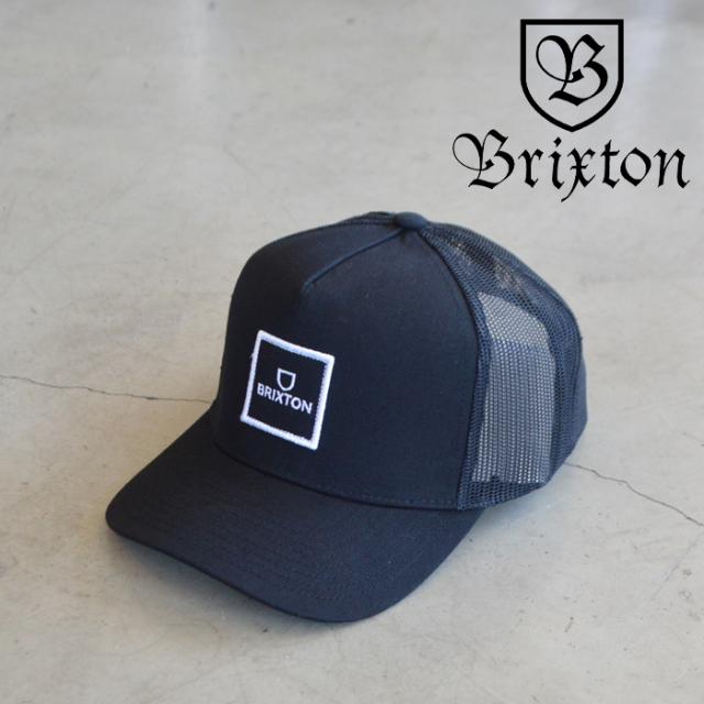 BRIXTON(ブリクストン) ALPHA BLOCK X C MP MESH CAP (BLACK) 【5パネル メッシュキャップ キャップ 帽子】【ブリクストン キャッ