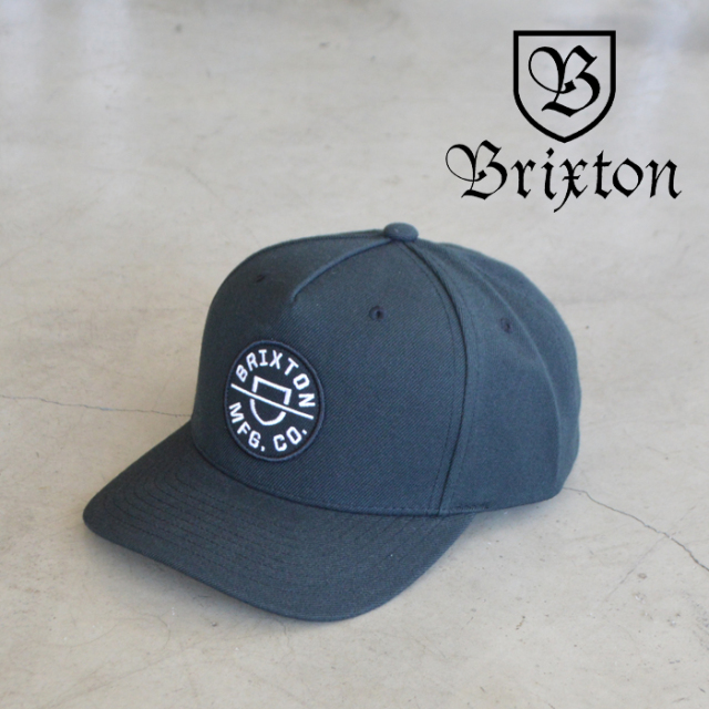 BRIXTON(ブリクストン) CREST C MP SNAPBACK(BLACK) 【キャップ 帽子】【ブリクストン キャップ】【定番 人気 シンプル】