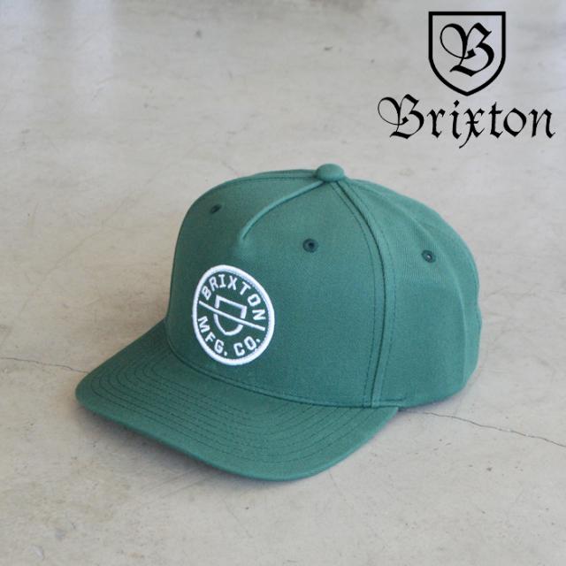 BRIXTON(ブリクストン) CREST C MP SNAPBACK(SILVER PINE) 【キャップ 帽子】【ブリクストン キャップ】【定番 人気 シンプル】