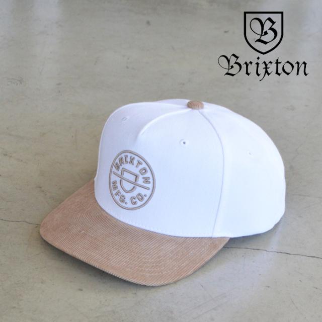 BRIXTON(ブリクストン) CREST C MP SNAPBACK(WHITE KHAKI) 【キャップ 帽子】【ブリクストン キャップ】【定番 人気 シンプル】
