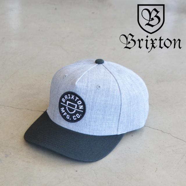 BRIXTON(ブリクストン) CREST C MP SNAPBACK(HEATHER GRAY/BLACK) 【キャップ 帽子】【ブリクストン キャップ】【定番 人気 シンプ